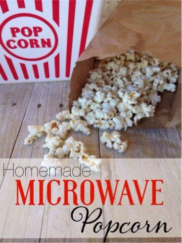 Homemade Microwave Popcorn, Brown Bag
