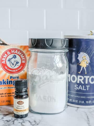 ingredients for a homemade sink cleaner