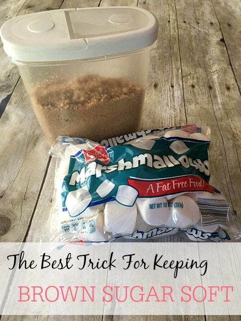 the best trick for keeping brown sugar soft