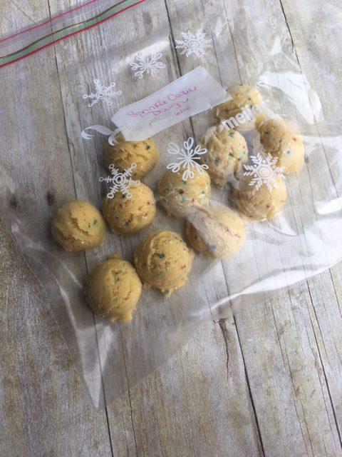 frozen cookie dough