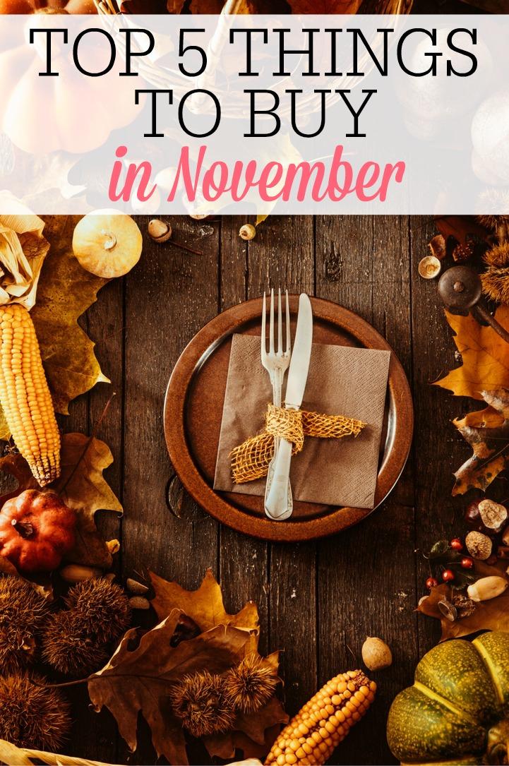 Top 5 things to buy in november pinterest