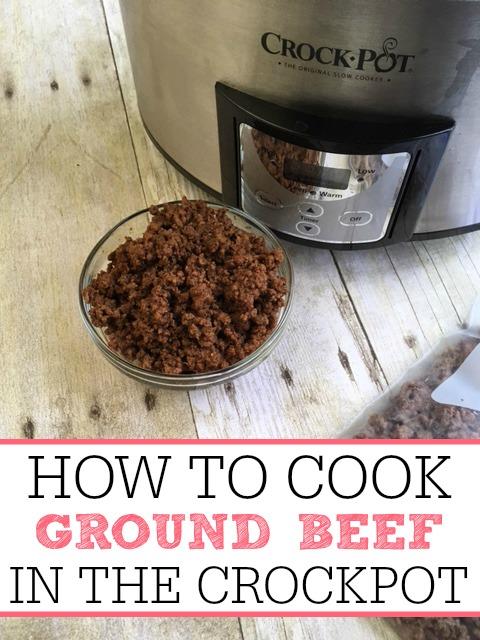 how to cook ground beef in crock pot