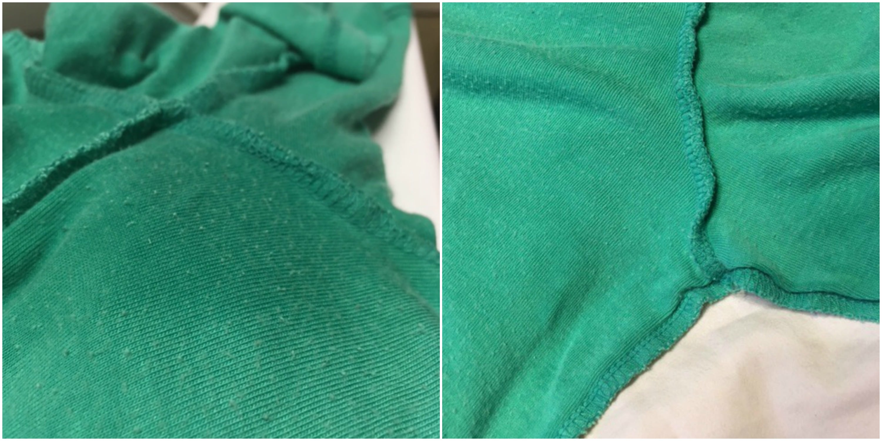 How to remove deodorant build up from dark clothes