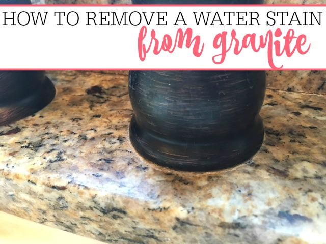 water stain on granite