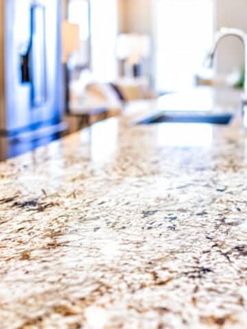 calcium deposits on granite
