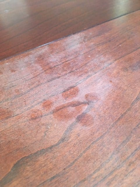 heat stain on wood furniture