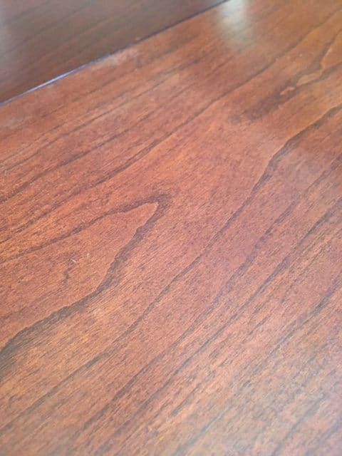 remove heat stains from wood