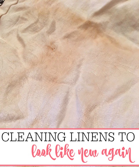 cleaning linens