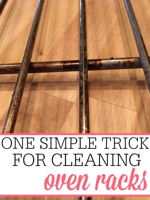 Cleaning oven racks