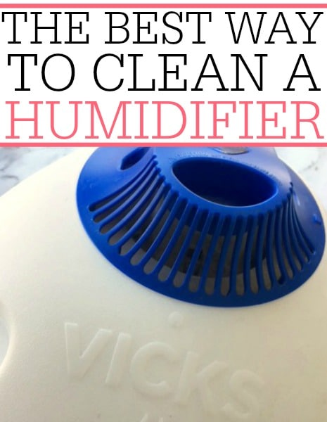 best way to clean humidifier