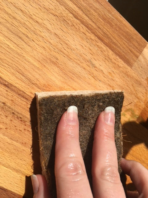 disinfect cutting board