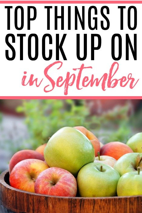 Top Things To Stock Up On In September