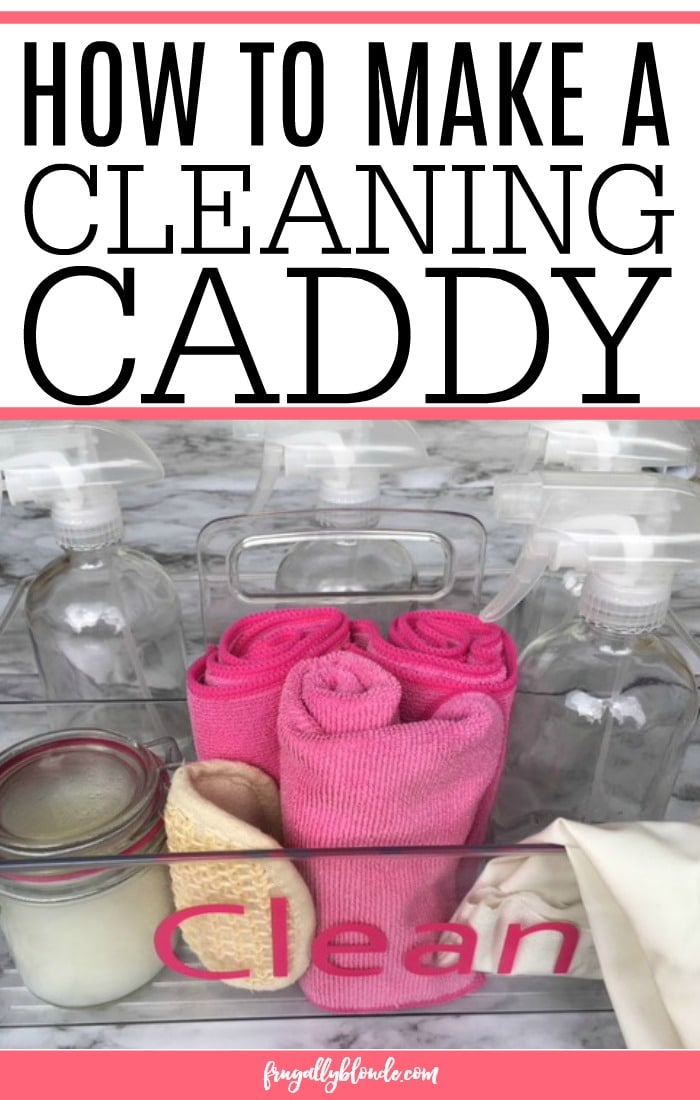 creating a cleaning caddy
