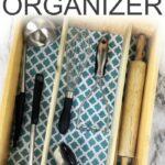 diy kitchen drawer organizer