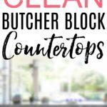 how to clean butcher block countertops