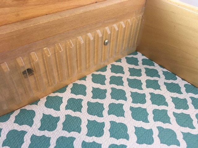 binning strips on drawer