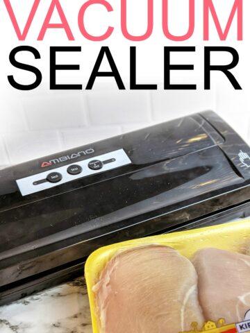 how to vacuum seal food