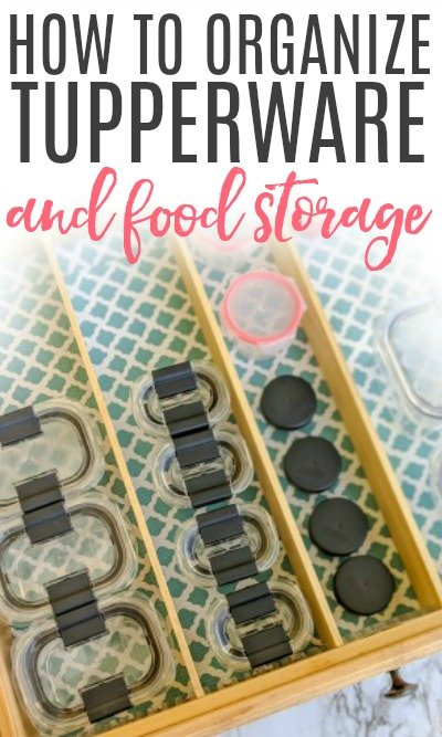 how to organize tupperware