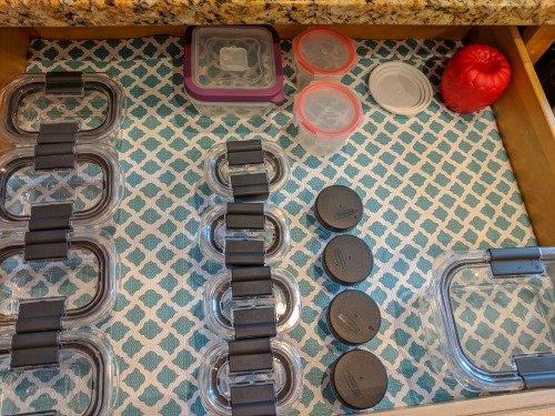 tupperware in drawer