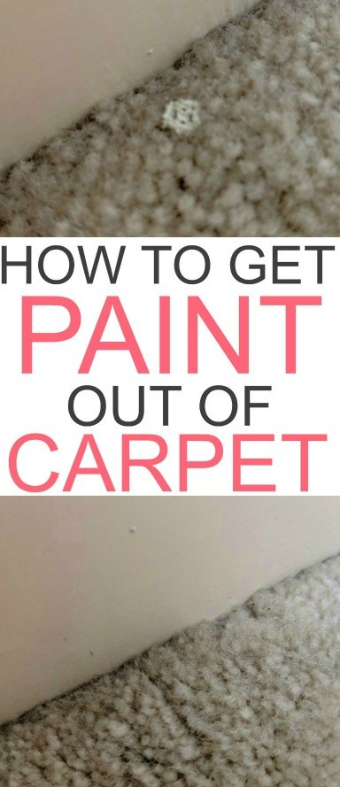 how to get paint out of carpet