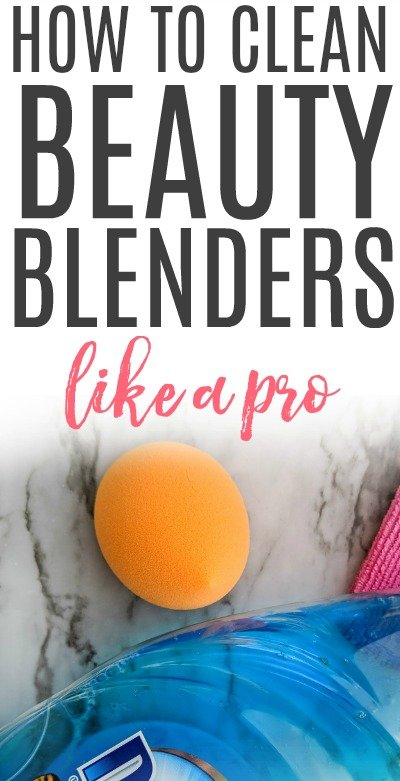 how to clean beauty blenders