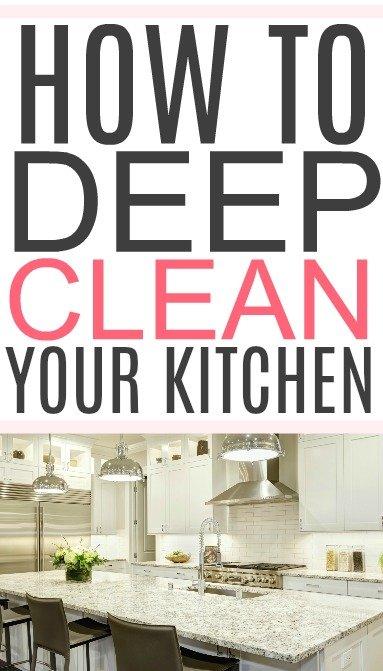 deep clean a kitchen