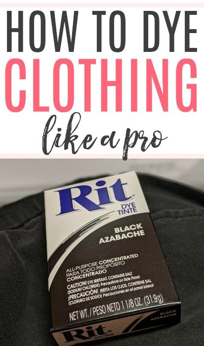 how to dye clothing