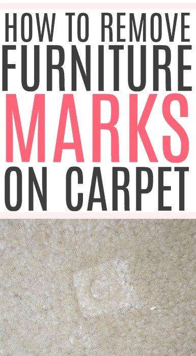 remove furniture marks on carpet