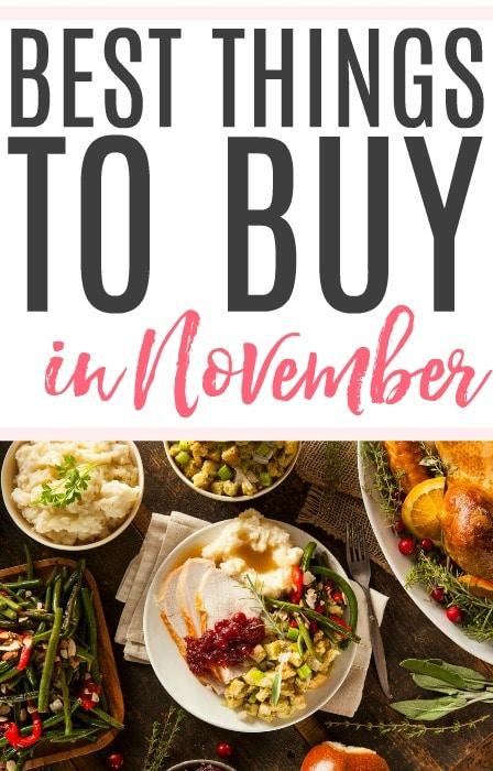 best things to buy in november