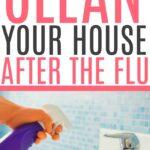 cleaning the house after the flu
