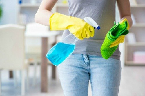 cleaning to keep away flu
