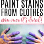 how to get dried paint out of clothes