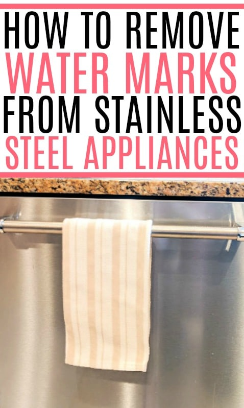 remove water stains from stainless steel
