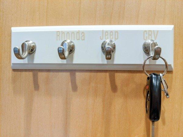 car keys in cabinet