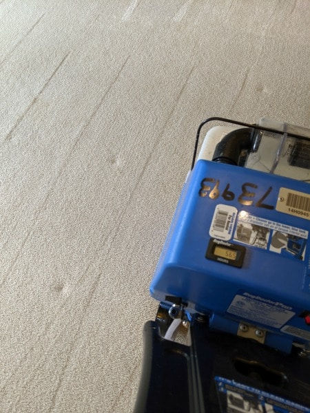 using a carpet cleaner to remove stains