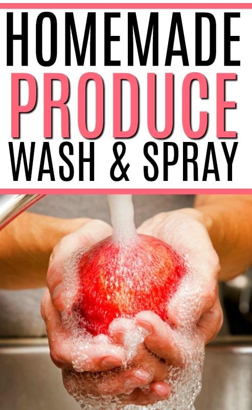 homemade produce spray