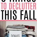 declutter for fall