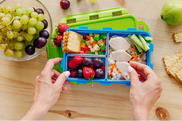 decluttering lunch supplies