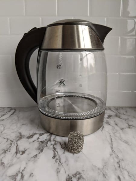 tea kettle descaling