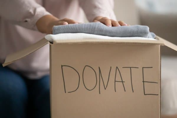 donation box to get rid of clutter