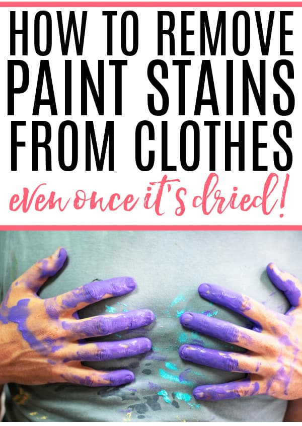 how to remove paint from clothes