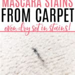 get mascara stain out of carpet