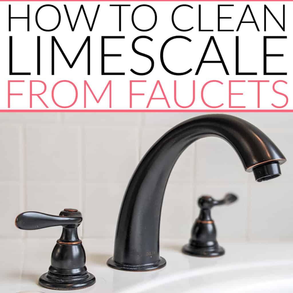 limescale on bathroom faucet