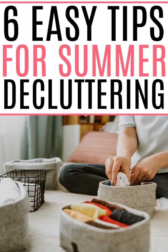 summer decluttering