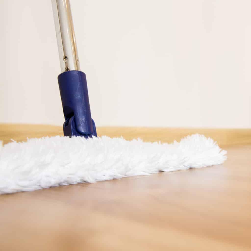 clean hardwood floors daily