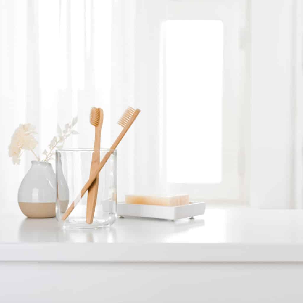clean the bathroom daily